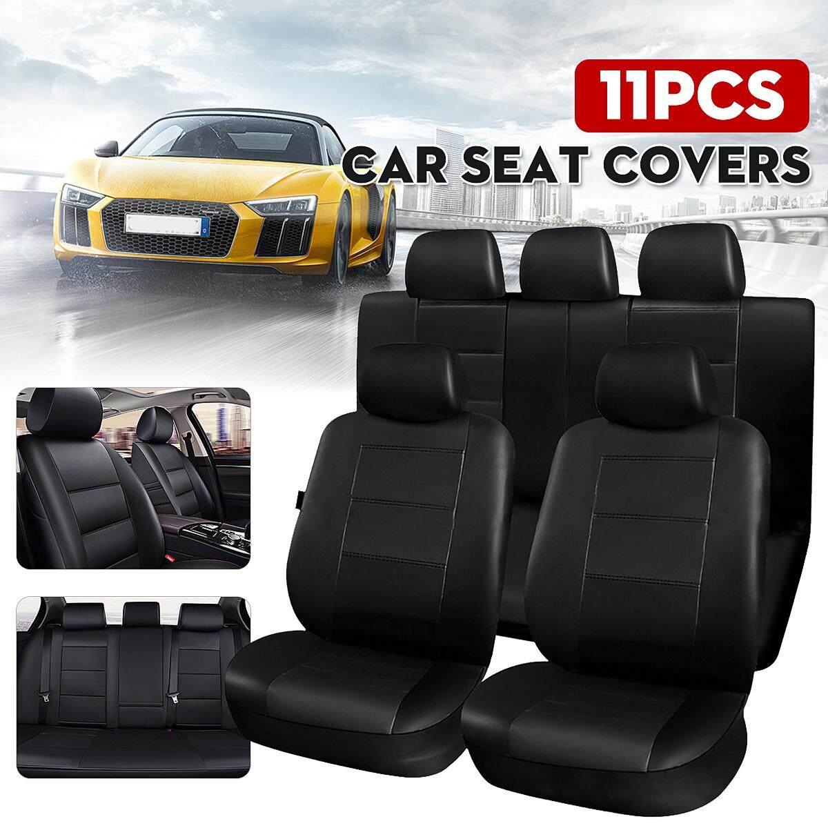 Universal PU Leather Full Set Auto Seat Covers Auto Car SUV Chair Cushion Covers