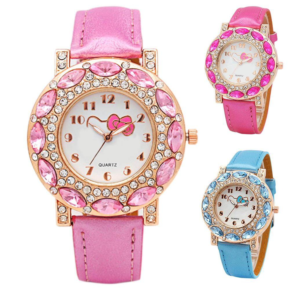 cc3461237 Specifications of Girls' Fashionable Cute Cartoon Watch with Lovely Hello  Kitty Pattern Children's Quartz Wristwatches Inlaid with Crystal Rhinestone