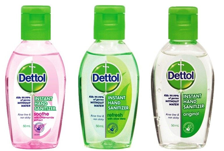 Dettol Instant Liquid Hand Sanitizer Refresh Anti Bacterial 50ml