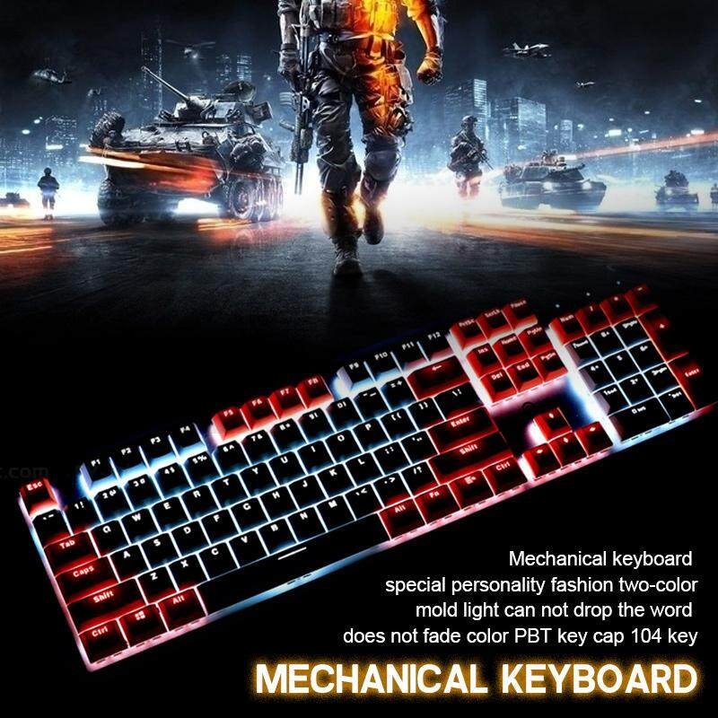 Bokeda Store Intelligent High-tech Hot Sale!!!Keycap Set Keycaps Durable  Translucent 104key Switch Mechanical Keyboard for Cherry MX