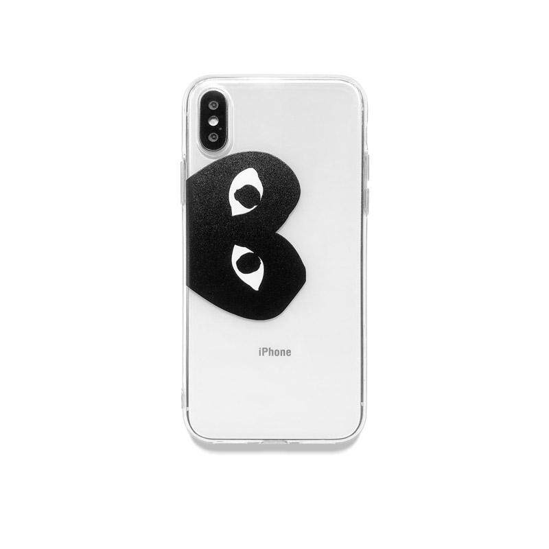 many fashionable look for outlet for sale Simple Transparent Case for iPhone 11 Pro Max 6 6s 7 8 Plus Fashion CDG  PLAY Comme des Garcons Logo Soft Phone Full Cover Cases for iPhone X Xs Xr  7P ...