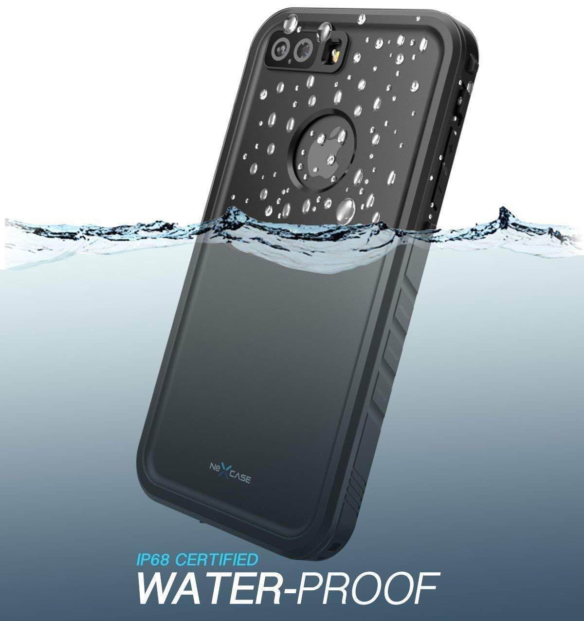 quality design 47392 35ee7 For iPhone 7 Plus Waterproof Case NexCase Full-body Rugged Case Cover with  Screen Protector