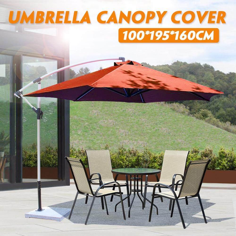 a29367b6a2 Outdoor Garden Parasol Canopy Cover Yard Patio Umbrella Fabric 100*195*160cm