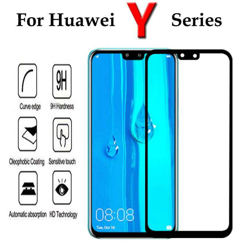 9H Full Tempered Glass For Huawei Y6 Y9 2019 Y5 Y9 Y7 2019 2018 Y6 Prime  2018 Screen Protector Full Cover Protective Glass Film