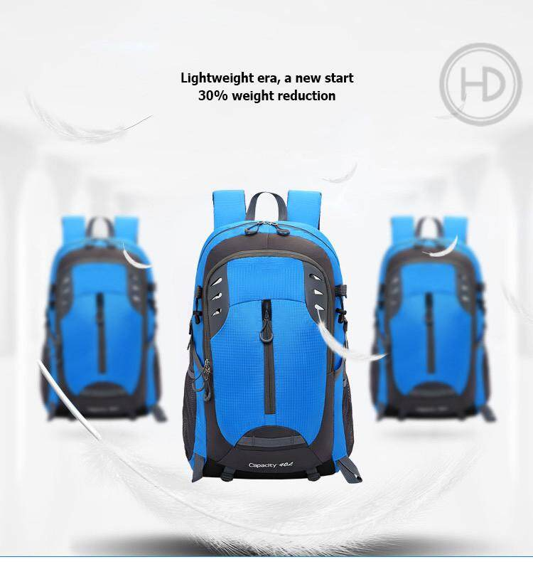 95740fe8f23f Outdoor mountaineering bag, sports large-capacity travel bag, men and women  casual riding waterproof backpack, 40L