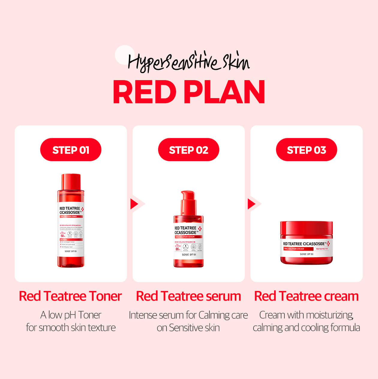 Somebymi] Some By Mi Red Teatree Cicassoside Final Solution Set - (Toner  150ml + Serum 50ml + Cream 60g)                   [BeautyBabe]      | Lazada