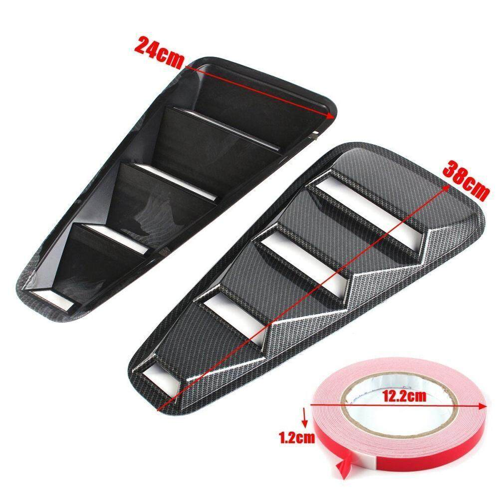 Pair Carbon Fiber Cover Vent Rear Fender Window Louvers For Ford Mustang  05-14