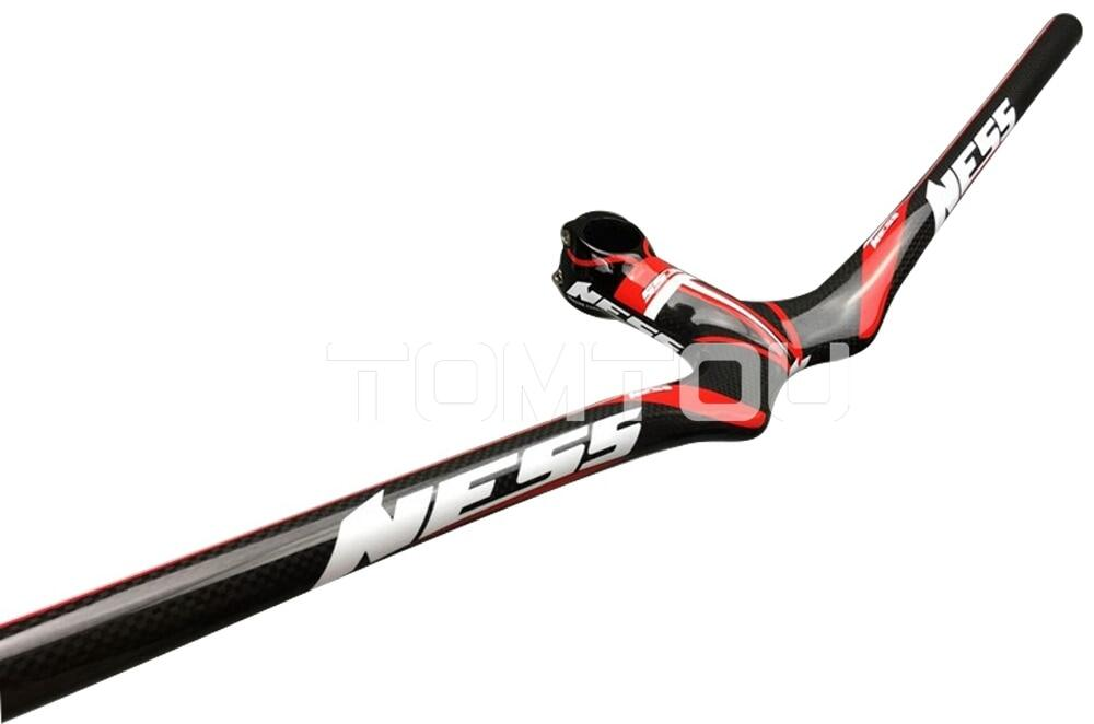 NESS Carbon Road Bike Riser Handlebar 580-720mm Integrated Bar//Stem 90-120mm