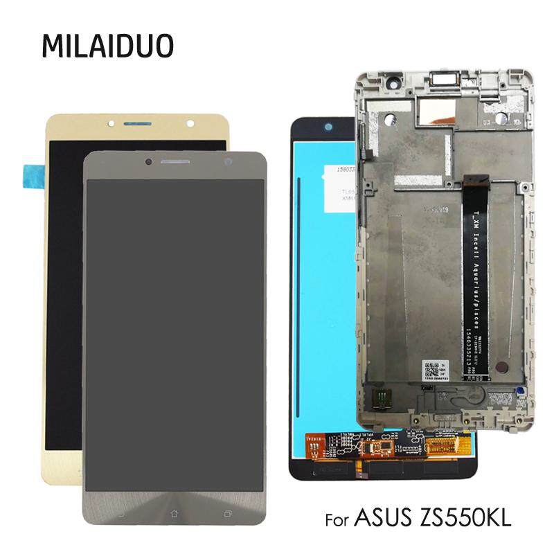 MILAIDUO Original For Asus Zenfone 3 Deluxe Zs550kl Z01fd Lcd Display +  Touch Screen Digitizer Assembly Replacement 5 5inch With Frame