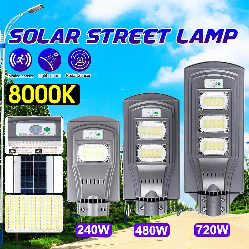 480W 48000LM LED Wall Street Light Solar Panel Motion Sensor Lamp With Remote