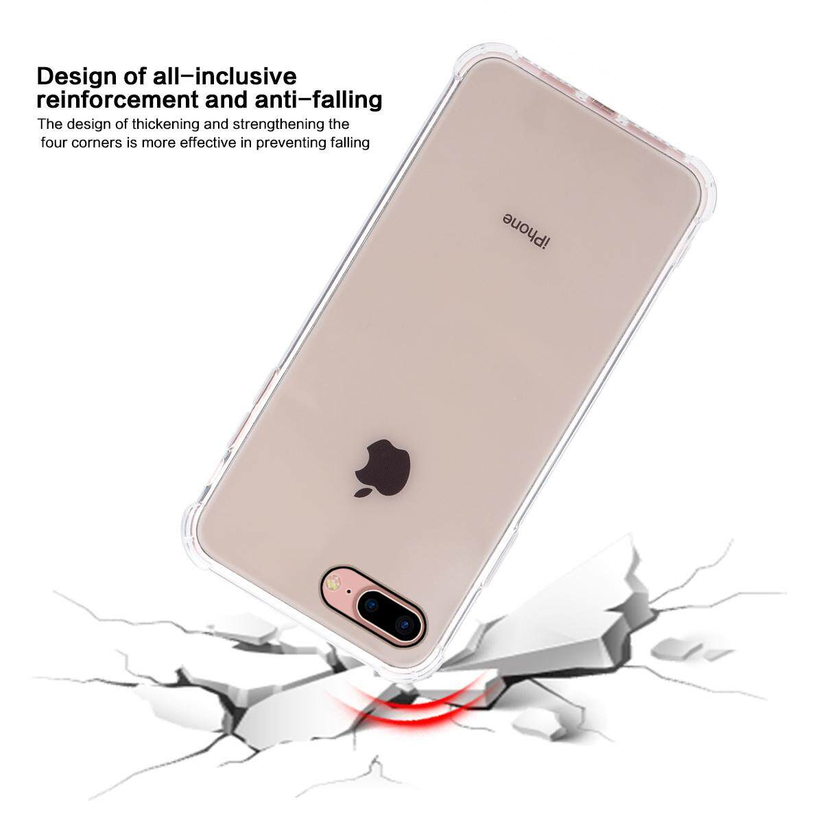 newest collection 3cf36 d9a0a Moonmini Case for iPhone 6 iPhone 6s 4.7 inch Back Case Slim Fit Soft TPU  Shock-absorption Anti-scratch Bumper Drop Cushion Protective Cover Clear