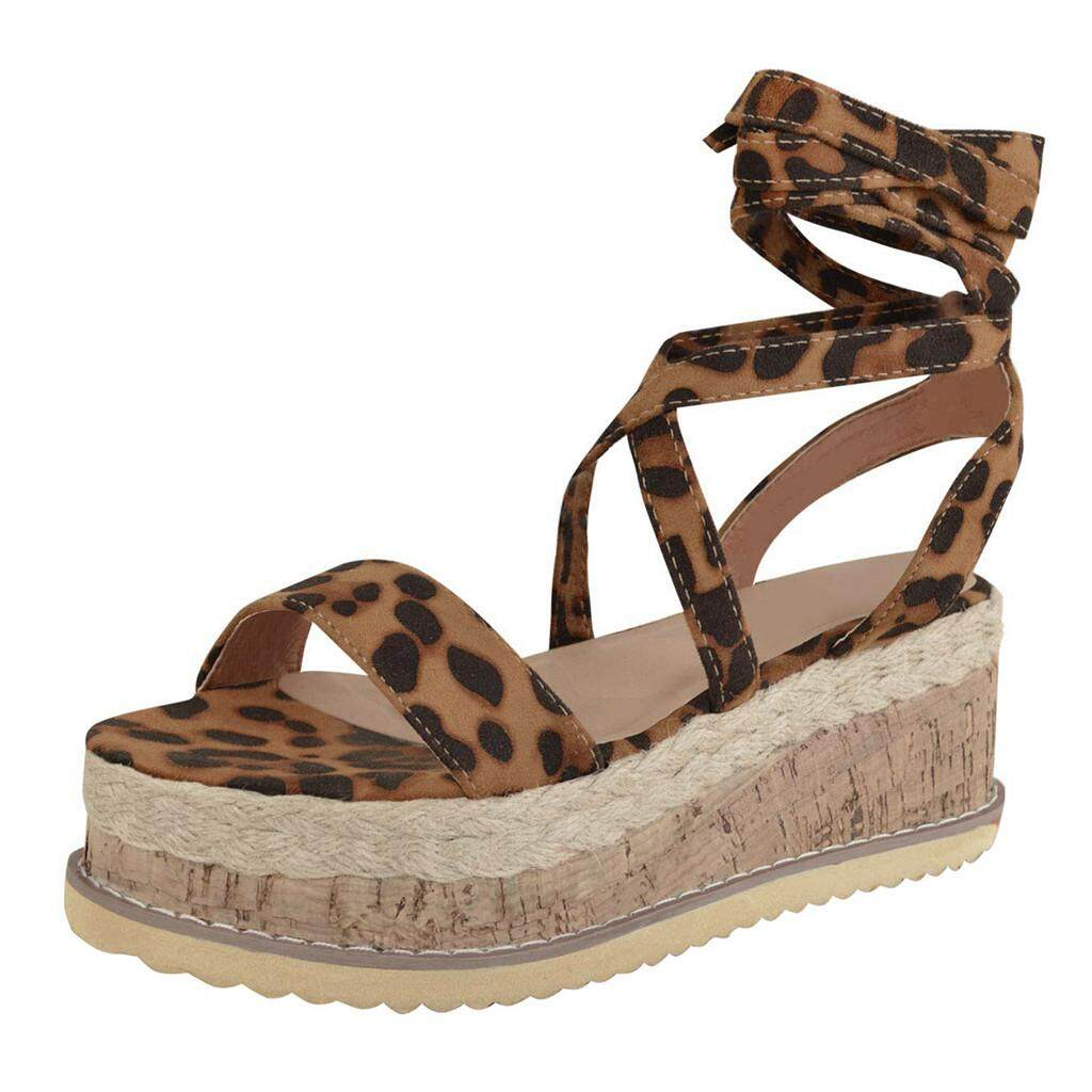 Women's Ladies Strap Ankle Leopard