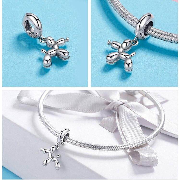8dababe6764ca BAMOER Genuine 925 Sterling Silver Balloon Dog Pendant Animal Charms Fit  for Charm Bracelets & Necklace Silver Jewelry SCC981, Dec