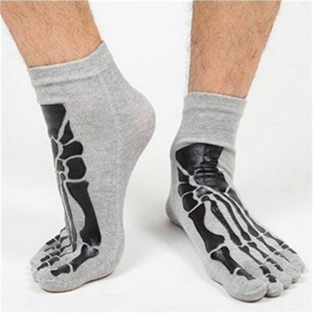 Ladies  Toe Socks with skull one Size