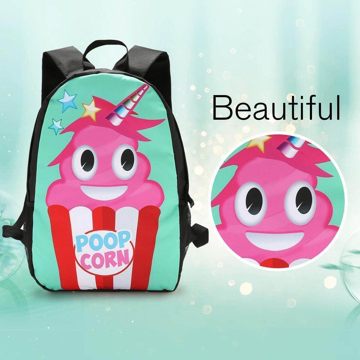 a98ff85febd8 Cute Girls Emoji Unicorn Backpack School Bags Laptop Rucksack Tote Shoulder  Bag