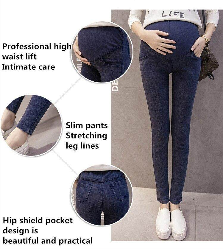 893fd09e55a07 ... new maternity pants pregnancy clothes pregnant feet stomach lift pants  snowflake stretch denim pants. Product display. Selling Point