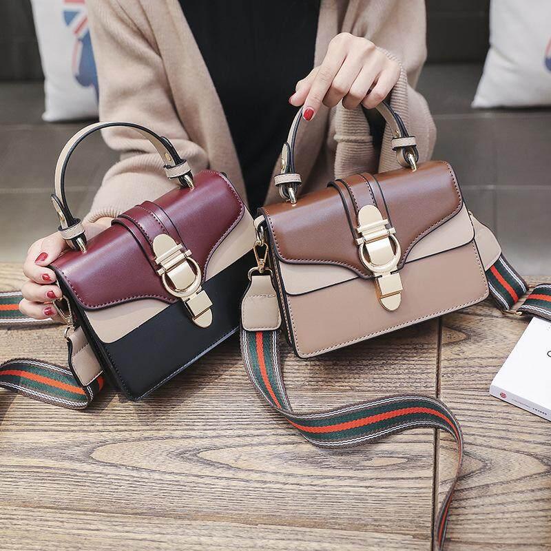 887d47a908c8 2019 Spring New Color Mosaic Stitching Shoulder Bag Korean Version of the  Wild Port Wind Handbag Fashion Small Square Bag