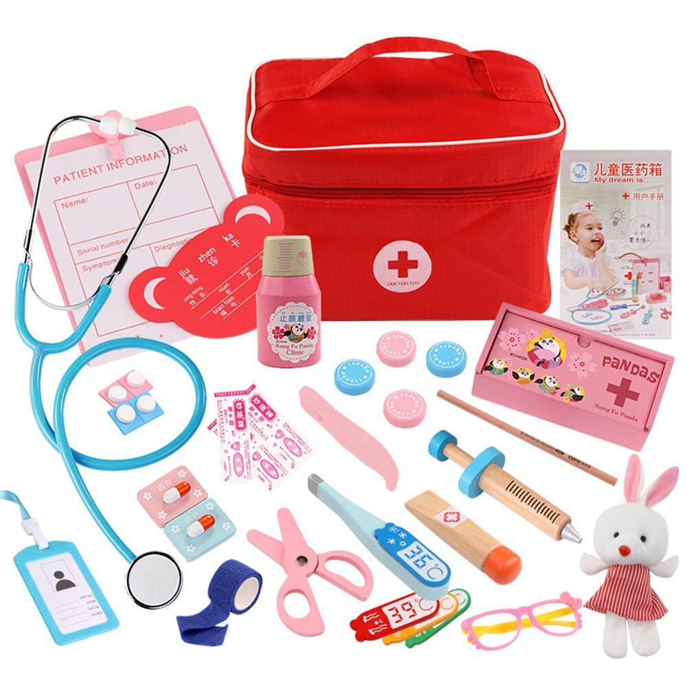 Photo De Cabinet Medical demeis simulation doctor toys wooden box medicine cabinet medical equipment  toy