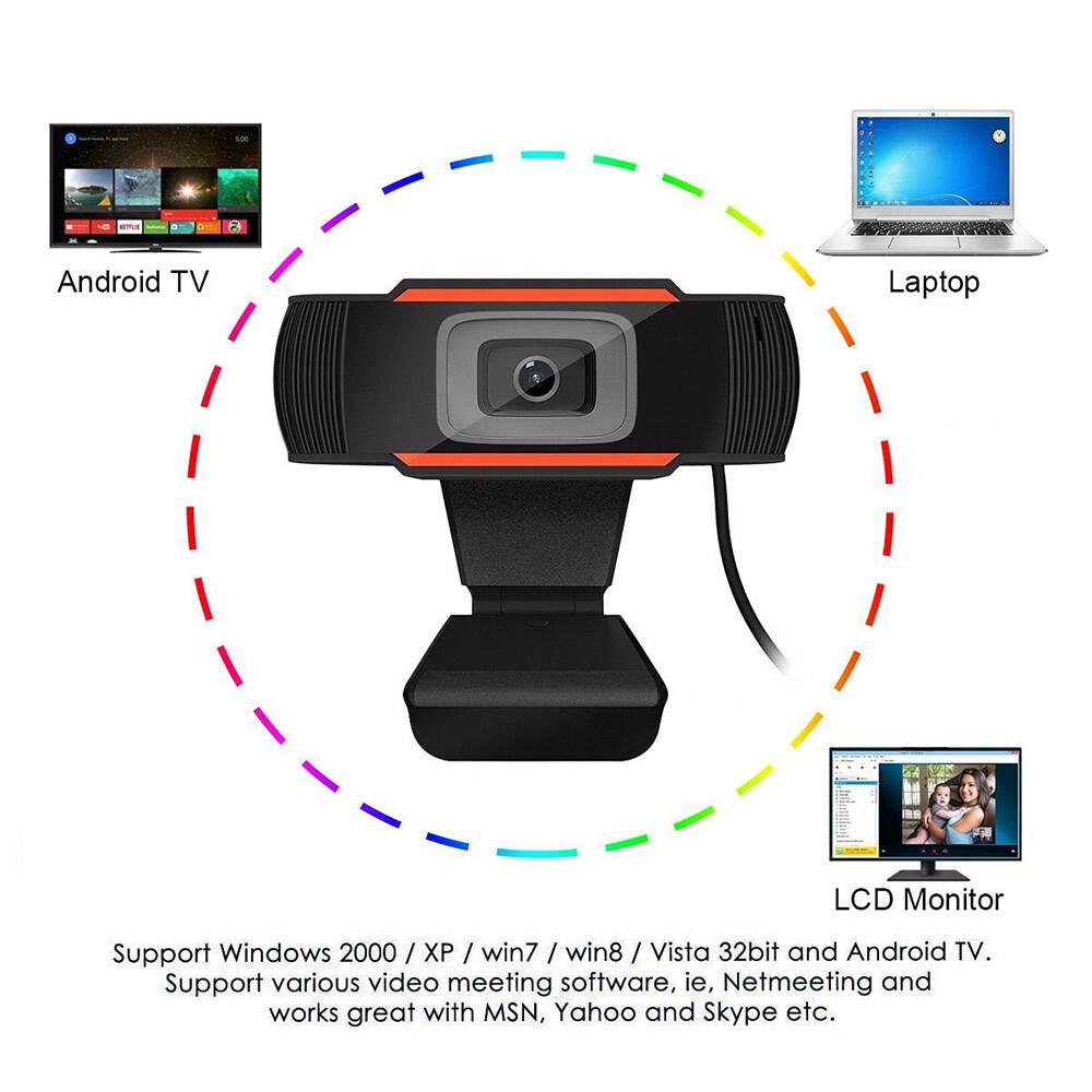 Webcam USB 480P 720P 12.0MP Độ Nét Cao Camera Web 360 Độ Kẹp Xoay-On Webcam Có Micrô Cho Máy Tính Để Bàn 9