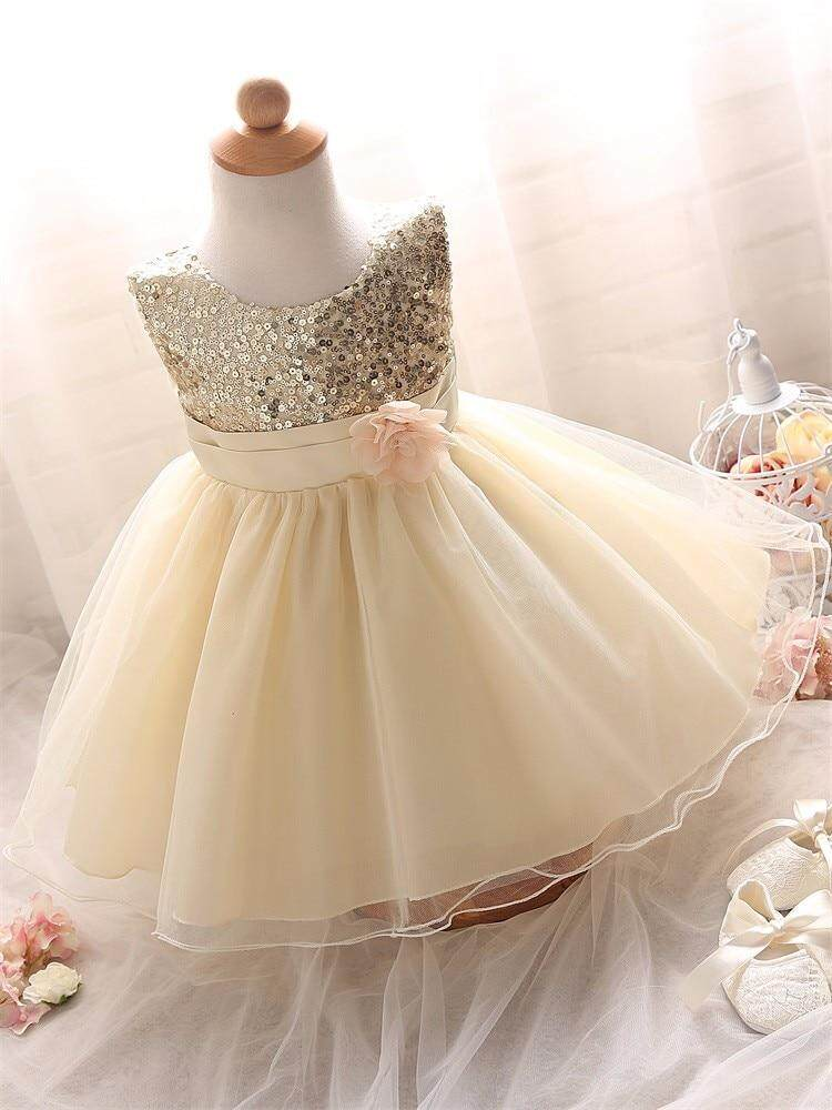 4ab89f596e460 Infant Birthday Party Little Dress Baby Girl Christening Gowns Toddler Kids  Events Party Wear Clothes Girls Boutique Clothing