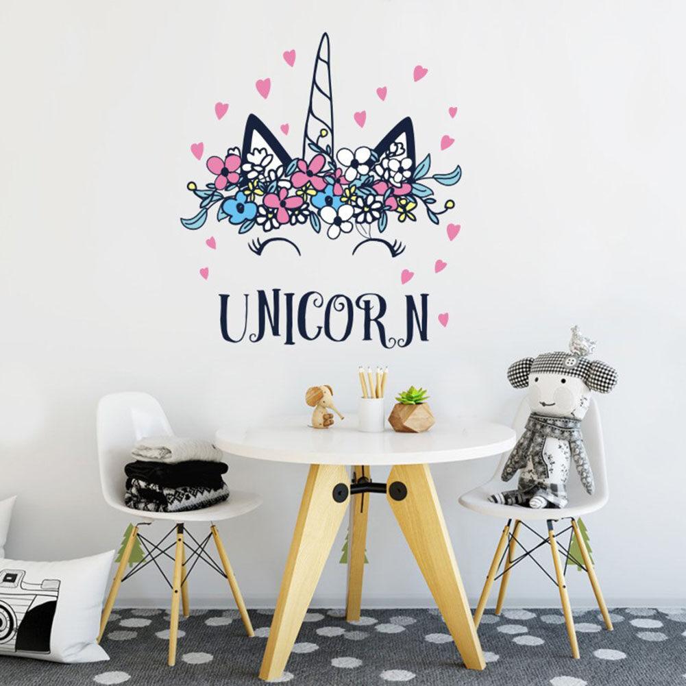 3D Kartun Hewan Unicorn Stiker Dinding Untuk Kamar Anak S Kamar DIY Wallpaper Bayi