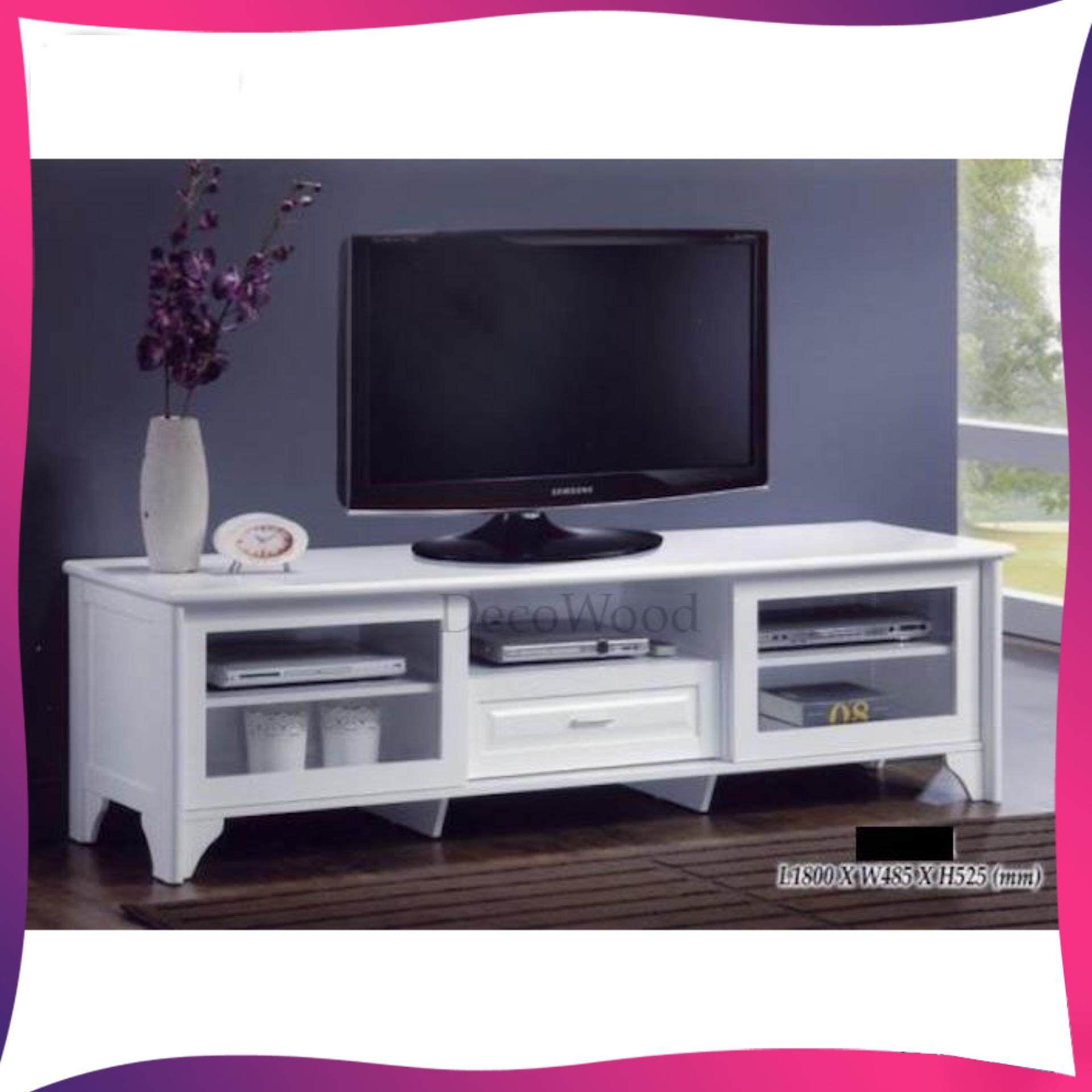 5 1 2 Feet Solid Tv Cabinet Wood White Lazada