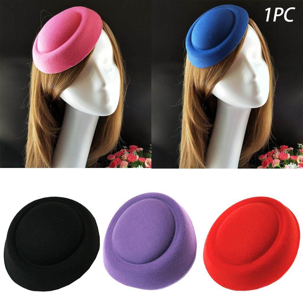 d68b0e5d Mini Women Beret Felt Wedding Hostess Millinery Pillbox Hat