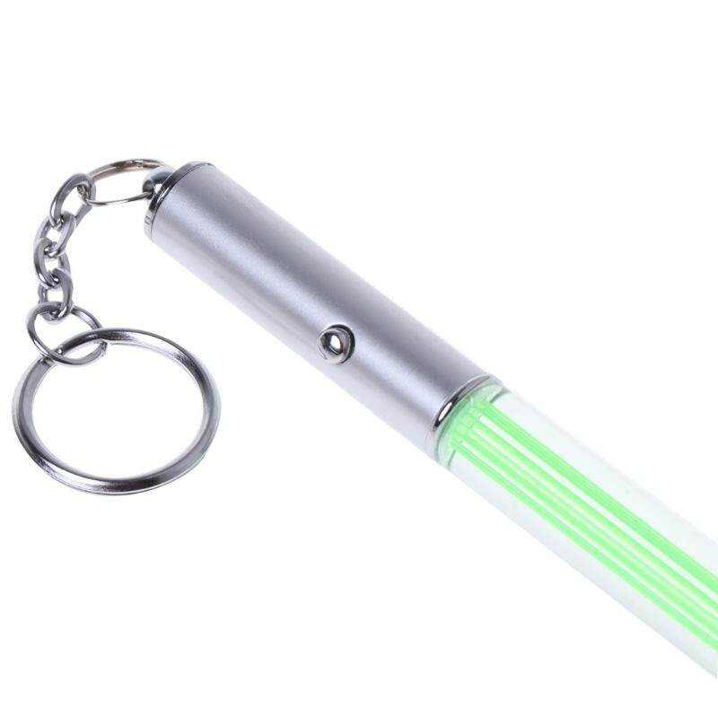 Durable Glow Pen Flash Magic Wand Stick Lightsaber LED Torch Light Keychain