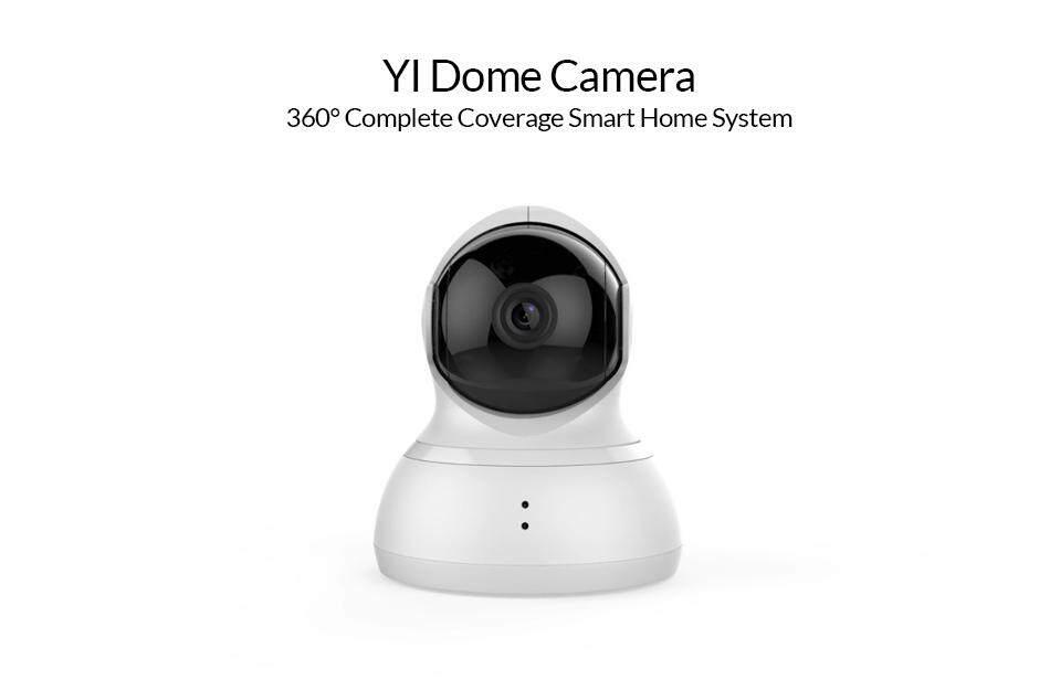 [OFFICIAL YI MALAYSIA WRTY] English Version XiaoYi Yi 360 Degree Pan Tilt  Dome CCTV International Edition Home IP Camera + Lexar 16GB  High-Performance