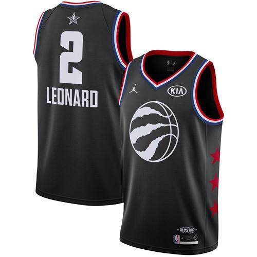 sports shoes 525a9 18cd8 2019 Genuine Men's Toronto Raptors Kawhi Leonard #2 Jordan_Brand Black 2019  NBA All-Star Game Finished Swingman Jersey