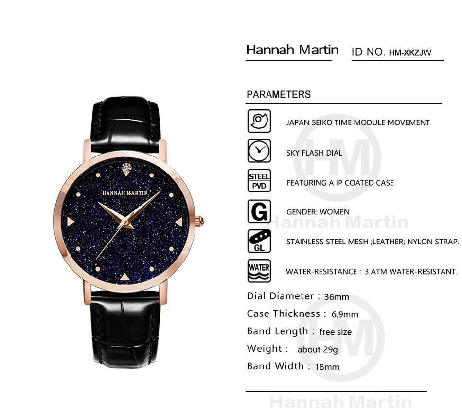 HANNAH MARTIN Women Watch Dress Clock Female Luxury Brand Ladies ...