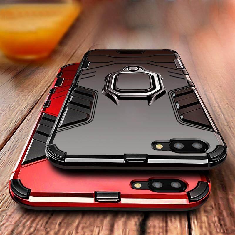 cheaper a1dd5 8088e For OPPO A3s / Realme C1 Case, Shockproof Rugged Slim Hybrid Magnetic  Bracket 360 Ring Holder Armor Hard Phone Casing Kickstand Skin Cover