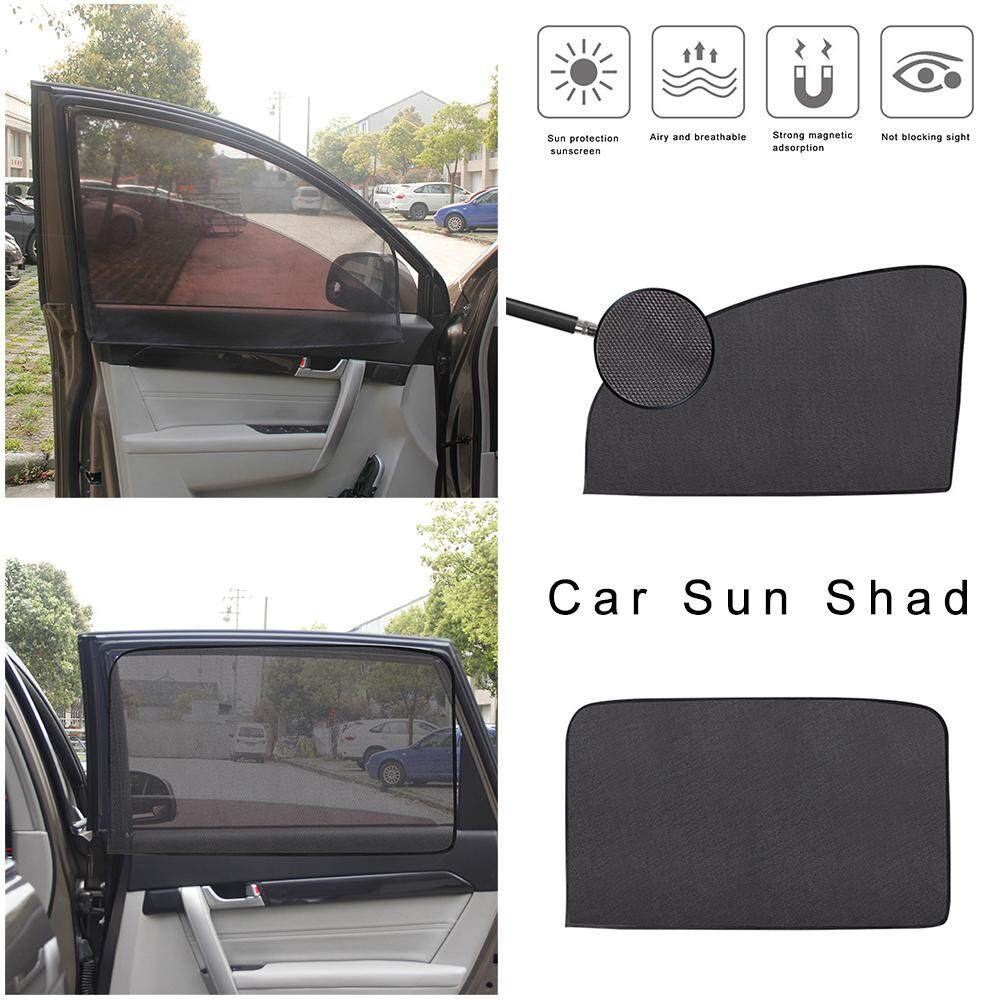 Universal Black Car Sun Shade Curtain Suction Cup Car Window Protection New