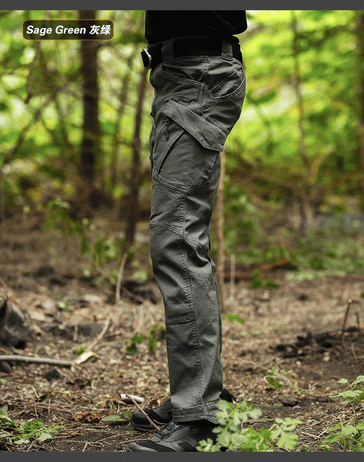 SUNAIS【Free Shipping + Flash Deal】Wear-resistant training pants IX9 cargo  pants urban tactical trousers special service pants special forces army fan