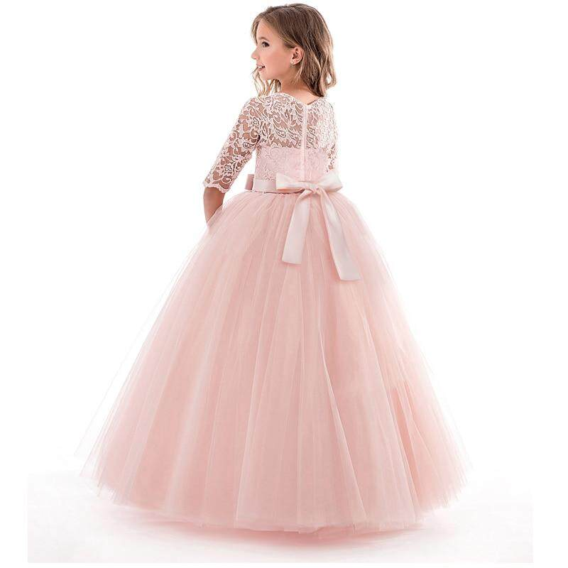 8a098b3564 Summer Girl Lace Dress Long Tulle Teen Girl Party Dress Elegant Children  Clothing Kids Dresses For Girls Princess Wedding Gown