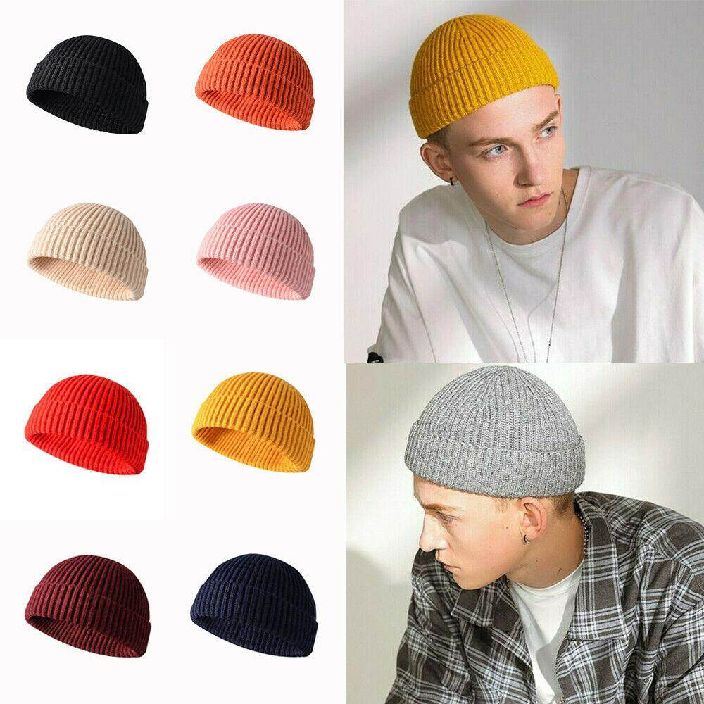 Stretchy Cuff Beanie Hat Black Skull Caps Cooker and Chef Winter Warm Knit Hats