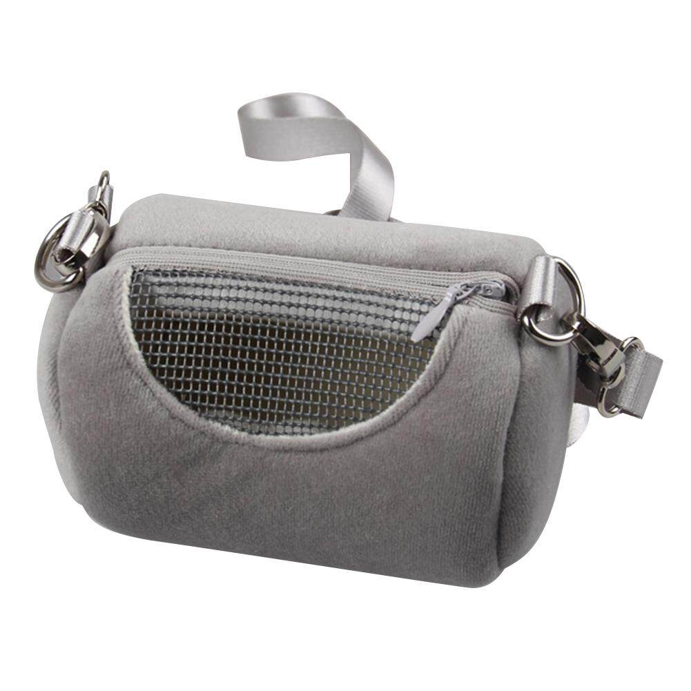 0545b59fc4dd House Cylinder Design Safety Practical Soft Accessories Portable Visible  Mesh Pet Cage Hamster Carrier Bag Zipper Closure Squirrel Cross Body Travel