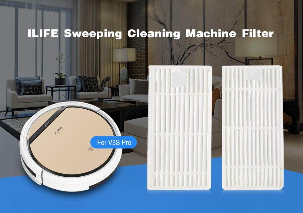 2PCS ILIFE Sweeping Cleaning Machine Filter for V5S Pro Vacuum Cleaner