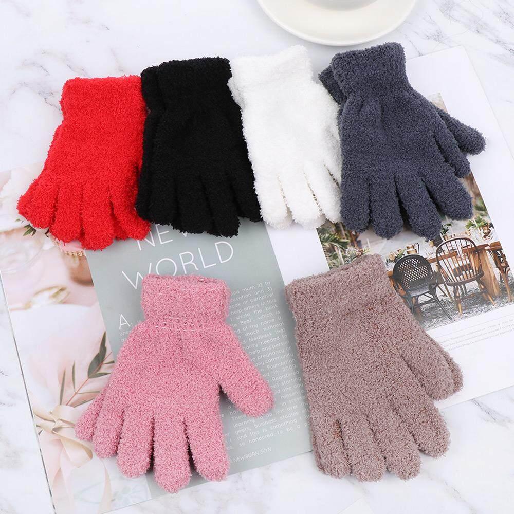 Kids Baby Boy Girl Winter Colorful Snowflake Print Gloves Full Finger Mittens