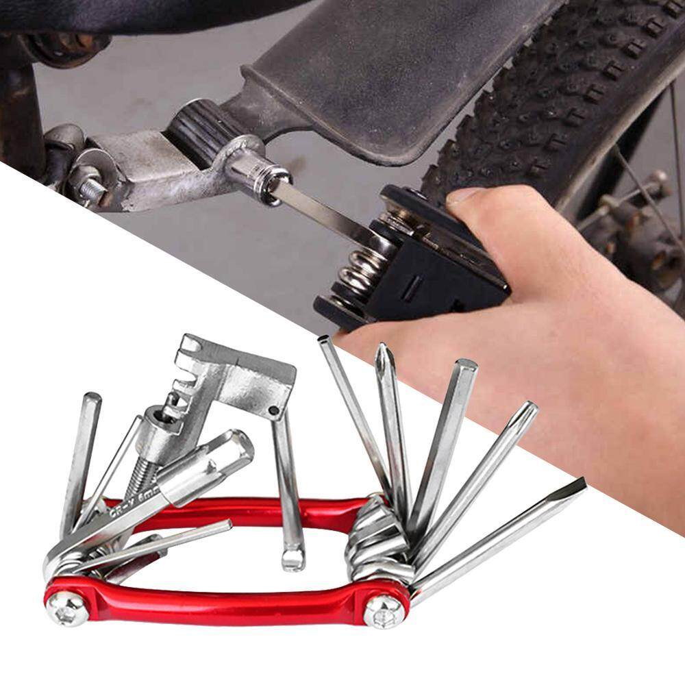 Bike Repair Set Bag Bicycle 11 in 1 Multifunctional Tool Kit T25 Chain  Cutter Hex Key Wrench Tire Patch Lever Portable Handy Maintenance Fix Mini  Set