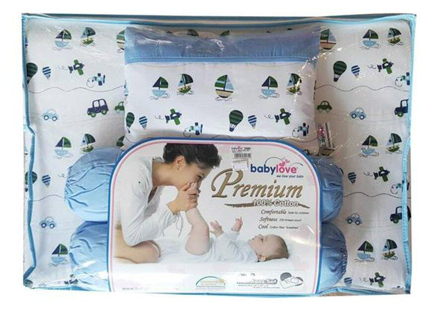 Babylove 4 in 1 Mattress Set ( Captain blue)