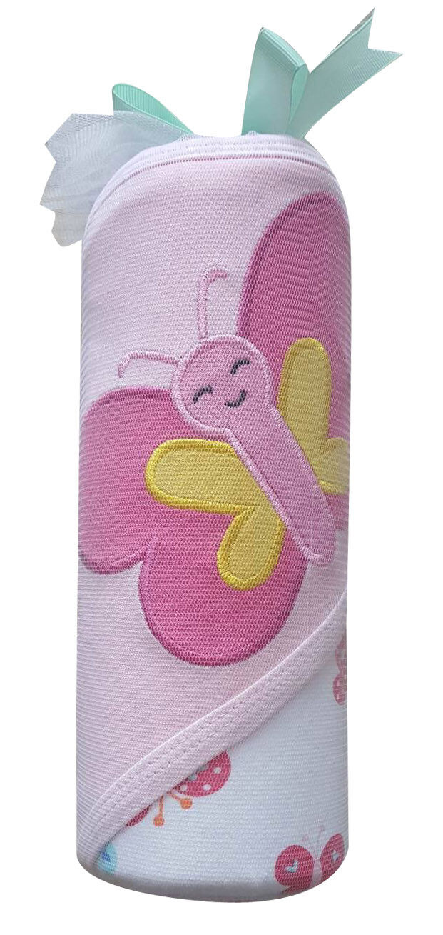 Babylove Cotton Hood Blanket (BERTTERFLY)