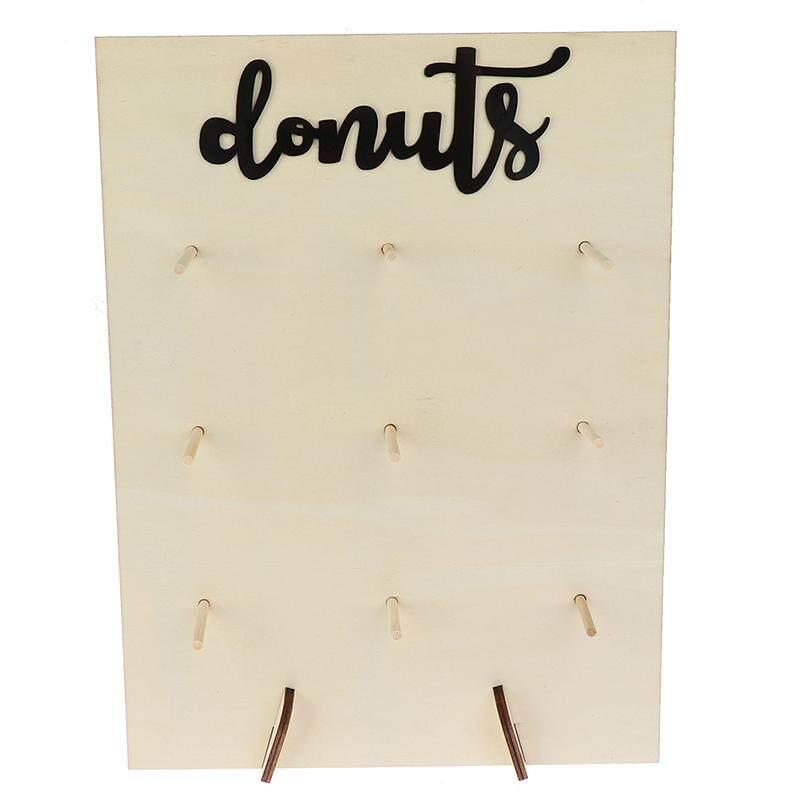 Wooden Donut Wall Stand Donut Party Decor Doughnut Holder Wedding Party Dec X ZV