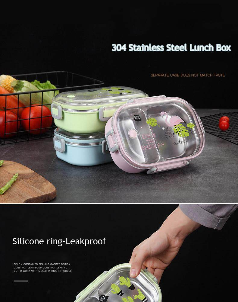 2b4af22c0431 304 Stainless Steel Lunch Box With Insulation Lunch Bag Korea Children  Students Office Workers 1 Layer Compartment Lunch Box