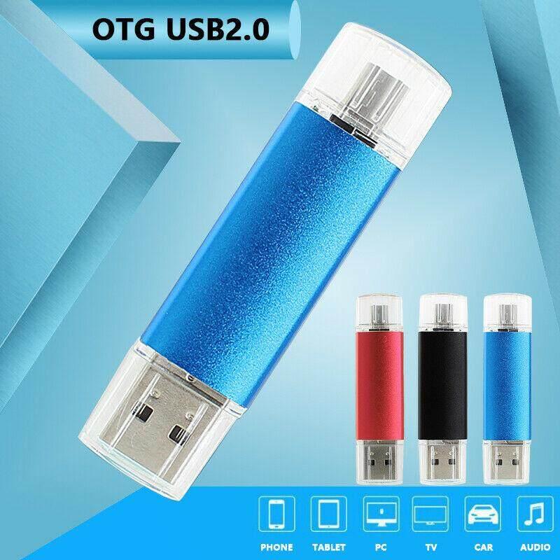 1TB//2TB 2 in 1 Memory Stick OTG USB2.0 Flash Drive Storage Android Smartphone