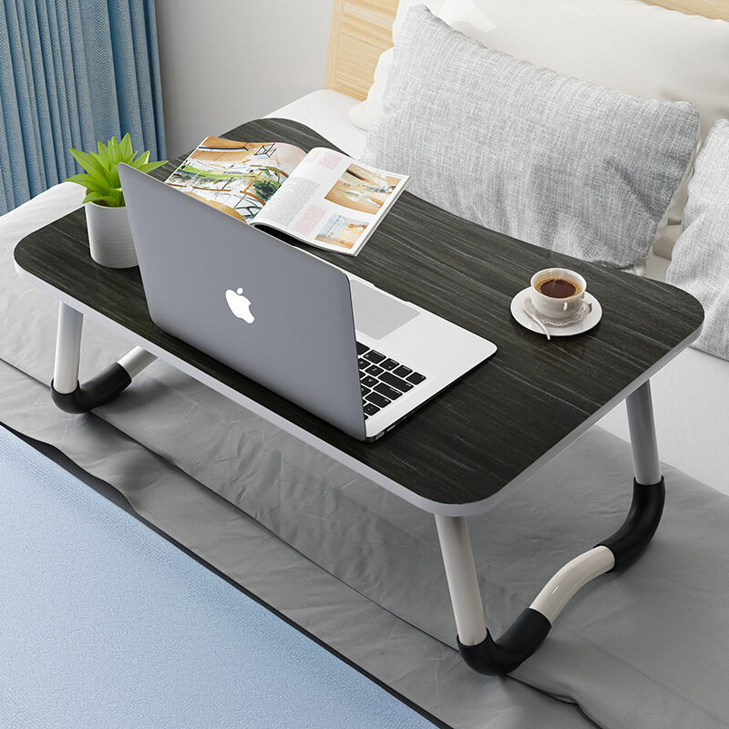 Foldable Table Anti-slip Bed Laptop Table Notebook Portable Computer Desk Mini Table Coffee Breakfast Table with Anti-Skid Pad