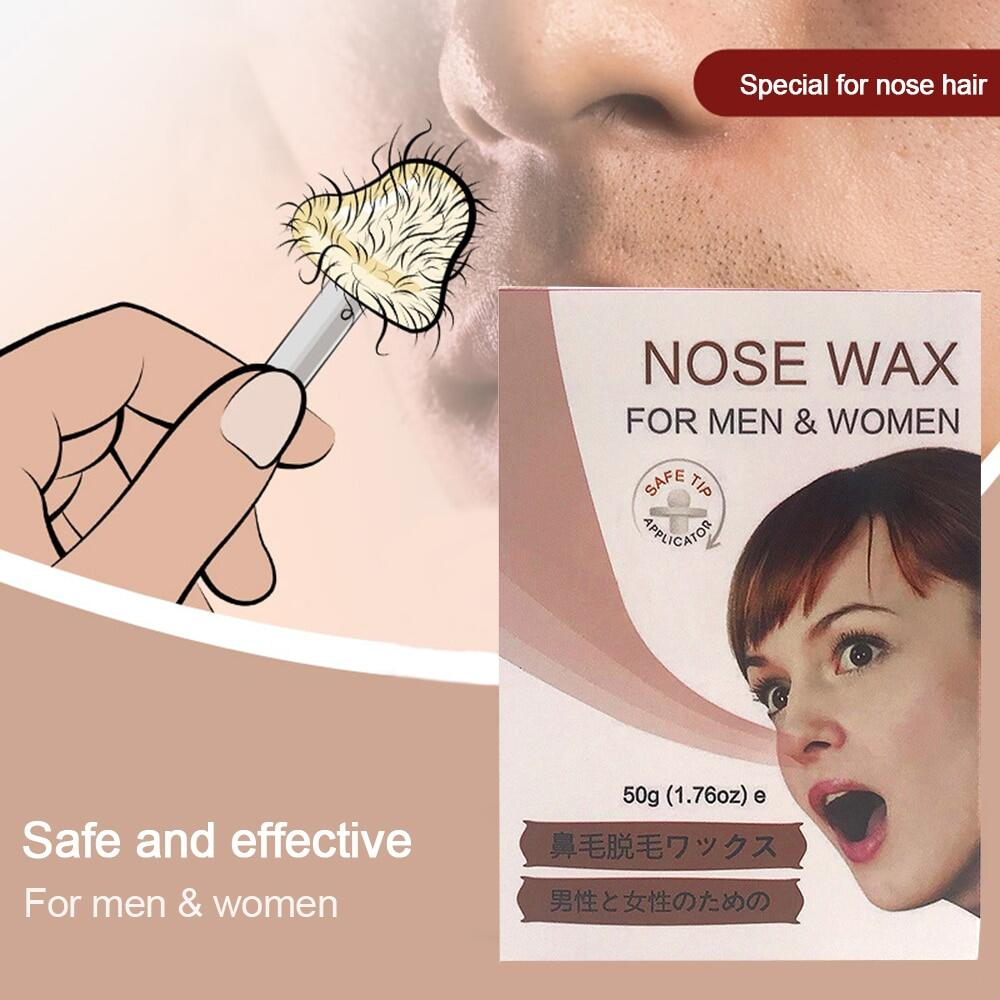Amortals Ready Stock Painless Nose Ear Hair Removal Wax Kit
