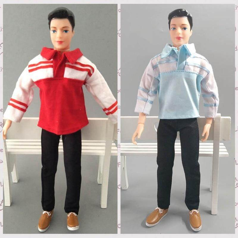 Ken Doll 20Pcs = 10 Outfits Fashion T-shirt Pants Skirt Dress Clothes For 12 in