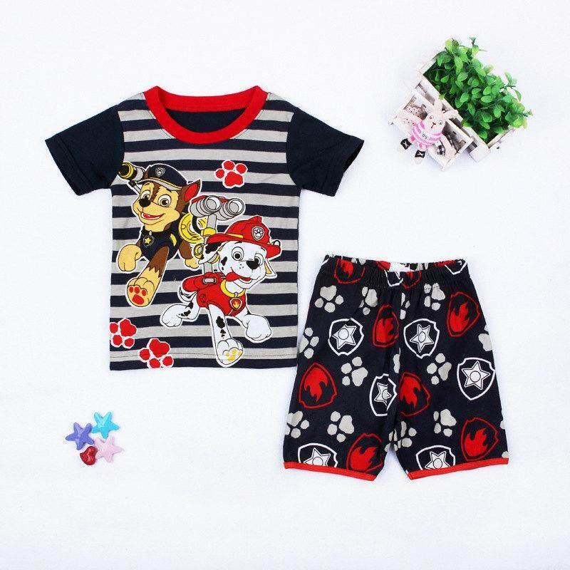 Paw Patrol Boys Two Piece Shorts Set Toddler Clothes Kid Clothing