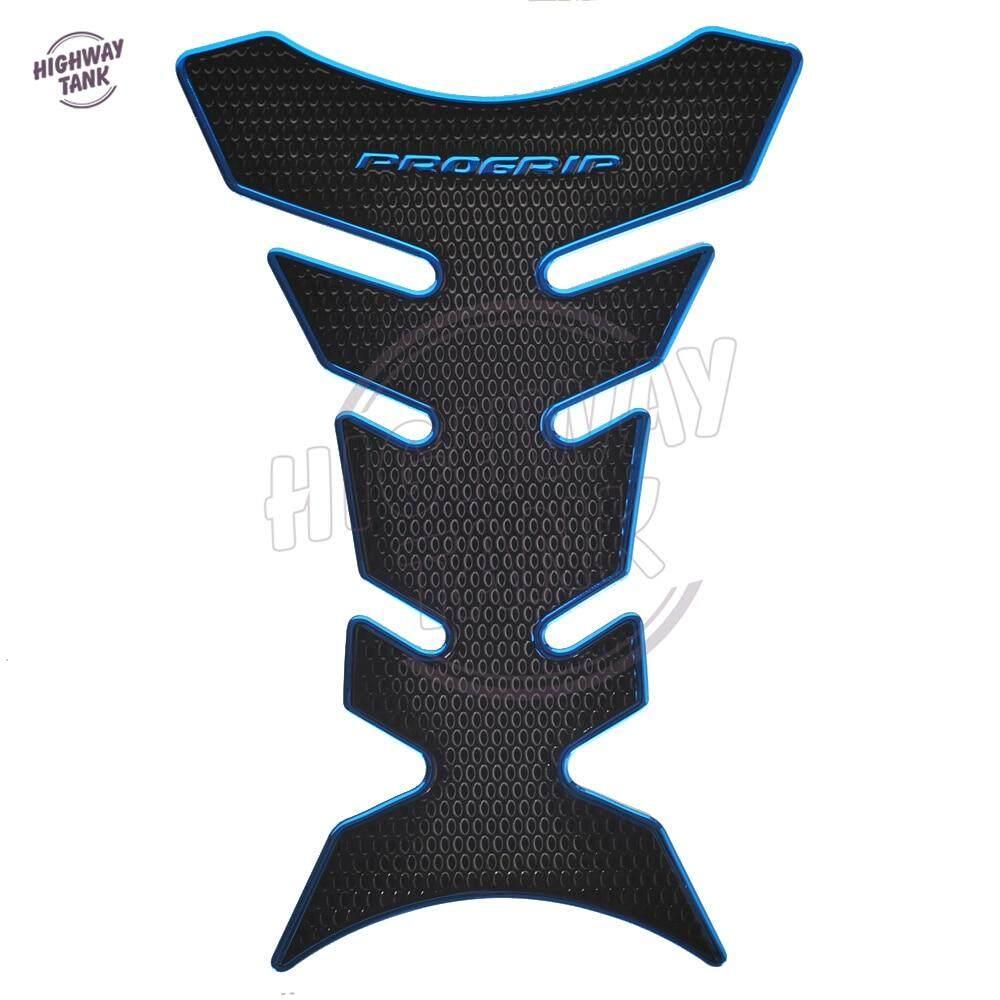Areyourshop Motorcycle 3D Rubber Gas Tank Pad Fish Bone Protector Sticker for Kawasaki Yellow
